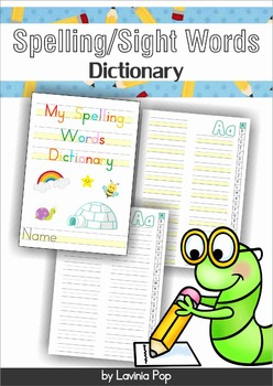 My Spelling / Sight Words Dictionary FREE