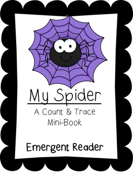 My Spider Emergent Reader-A Count and Trace Book