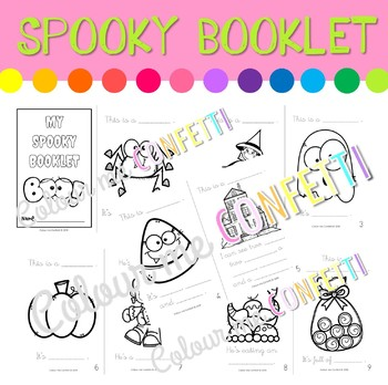 My Spooky Booklet - Colour me Confetti