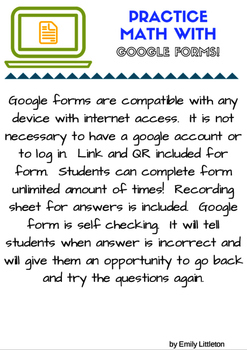 My Spooky Halloween Adventure: Subtraction and Addition with Google Forms