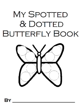 My Spotted and Dotted Number Butterfly Book BW Printable