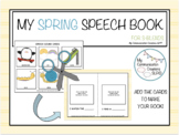 Spring Speech Book for S-Blends SLP Speech Therapy
