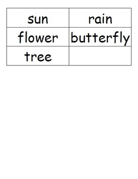 My Spring Words Dictionary (Matching Words to Pictures)