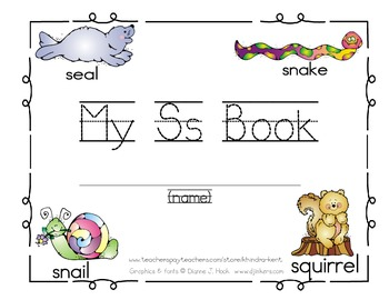 My Ss Book {sight words I, can, go}