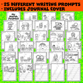 St. Patrick's Day Activities : My March Journal (31 Different Writing Prompts)