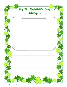 My St. Patrick's Day Story Writing Prompt Primary