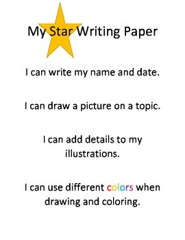 My Star Writing Paper