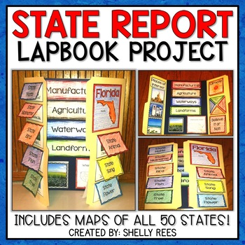 My State Lap Book - An Interactive Project for ANY U.S. State!