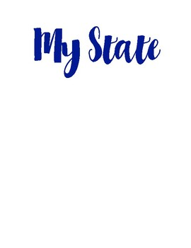 My State Worksheets/ Mini Notebook