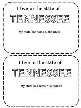 My State of Tennessee Book