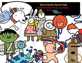 My Story Friends Mega Clip Art Bundle