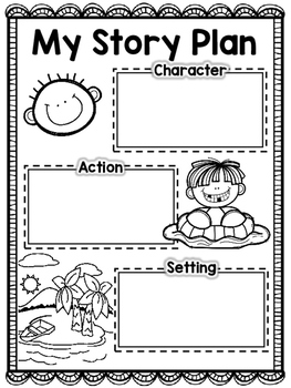 My Story Plan {Graphic Organizer} Character Action Setting Beginning Middle End