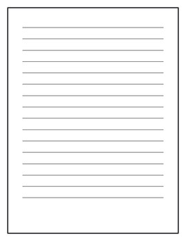 My Story Writing Paper