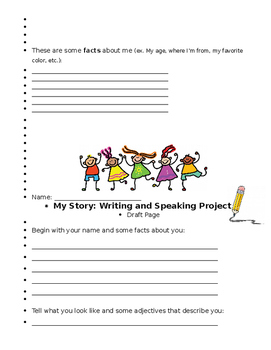 My Story - writing and speaking project - ESL/ELL!