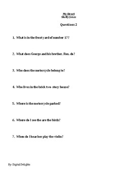 My Street by Shelly Jones Reading Comprehension Questions