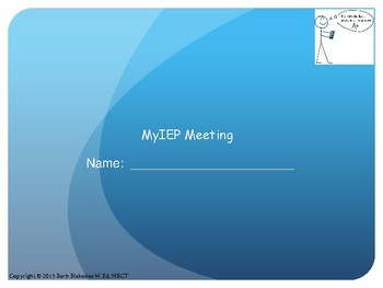 My Student-Led IEP Meeting