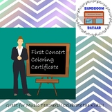 My Student's First Concert! - Coloring Certificate