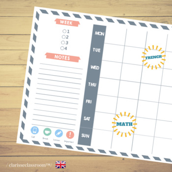 My Study Planner⎜ Time management⎜Printable Planner⎜Printable Stickers