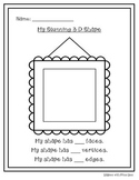 My 3-D Shapes Worksheets