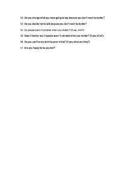 My Stuttering Survey