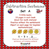 Kindergarten Subtraction - Set A