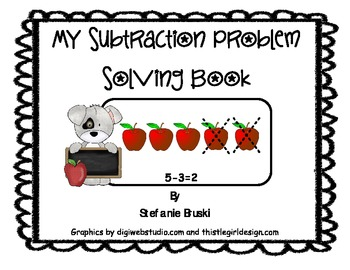 My Subtraction Word Problem  Book