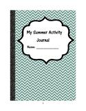 My Summer Activity Journal
