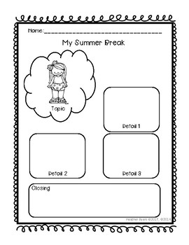 My Summer Break Desk Buddies {FREEBIE}