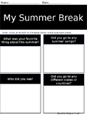 My Summer Break Page