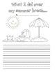 My Summer Break Primary Writing Prompt
