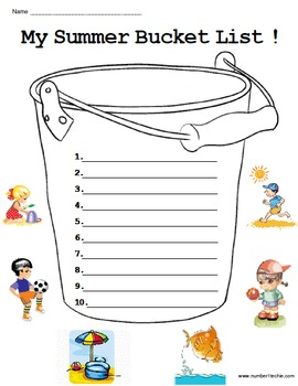 My Summer Bucket List!