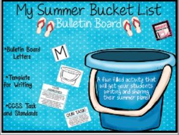 My Summer Bucket List - An end of the year Bulletin Board