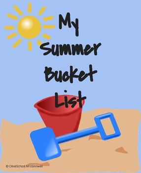 My Summer Bucket List- Booklet