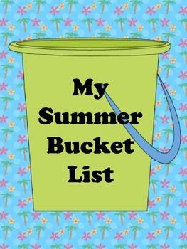 My Summer Bucket List Craftivity