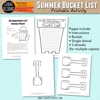 picture relating to Bucket List Printable called My Summer time Bucket Checklist Printable Undertaking