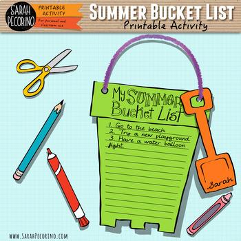 My Summer Bucket List Printable Project