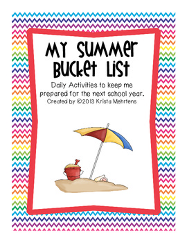 My Summer Bucket List- Summer booklet to review concepts