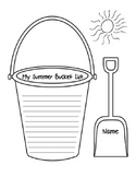 My Summer Bucket List - Writing Activity