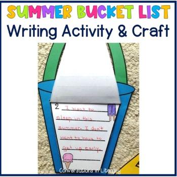 My Summer Bucket List Writing and Craft Activity