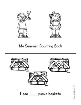 My Summer Counting Book & Activity