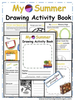 My Summer Drawing, Writing, and Activity Book for Kids