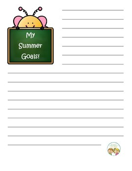 My Summer Goals Personal Writing