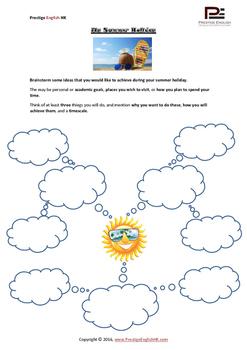 My Summer Holiday - Writing Task - FREE