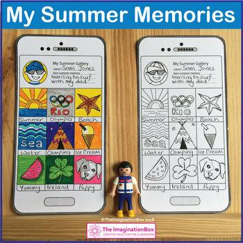 Back to School Art & Writing, My Summer Memories