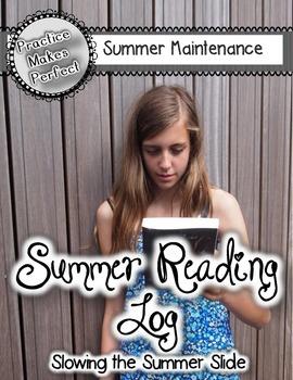 Free Summer Reading Log Slow the Summer Slide
