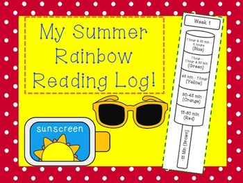 My Summer Reading Rainbow Pop Log