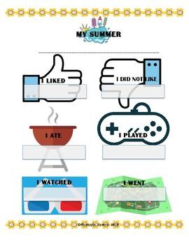 My Summer Recap Worksheet