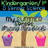 My Summer Senses - 5 Senses Science Writing Kindergarten 1st