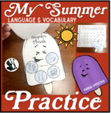 My Summer Speech Therapy Practice Book: Language