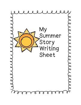 My Summer Story Sheet